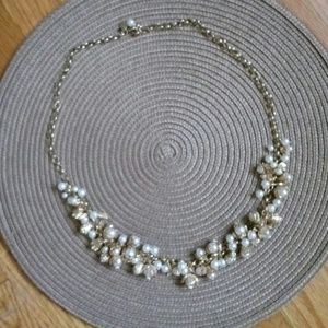 ⭐Gold Tone And Pearl Look Jingling Necklace